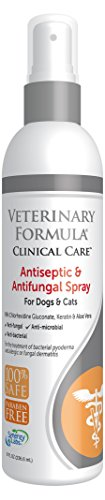 (Veterinary Formula Clinical Care Antiseptic and Antifungal Spray for Dogs and Cats - Medicated Topical Spray Treatment for Fungal and Bacterial Skin Infections in Dogs and Cats, Fast Acting, Heal and Soothe Infections (8 oz bottle))
