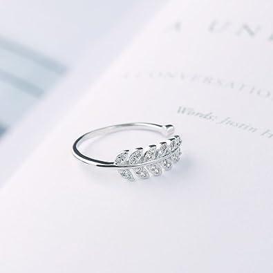 JUDYの秘密<愛の言葉>925純銀製 キラキラ木の葉 ファッションリング ピンキーリング 指輪 リングレディース フリーサイズ ホワイトデー  プレゼント