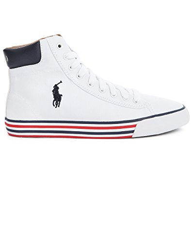 Polo Ralph Lauren - Zapatillas de Deporte de tela Hombre Bianco-Blu
