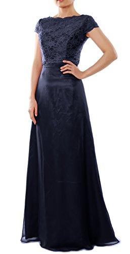 Dunkelmarine Cap Gown Party Bridesmaid Sleeve MACloth with Wedding Jacket Dress Elegant Long Txw715qP1