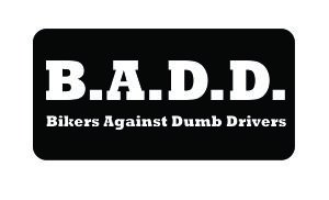 (3) B.A.D.D. Bikers Against Dumb Drivers Vinyl Decal, used for sale  Delivered anywhere in USA