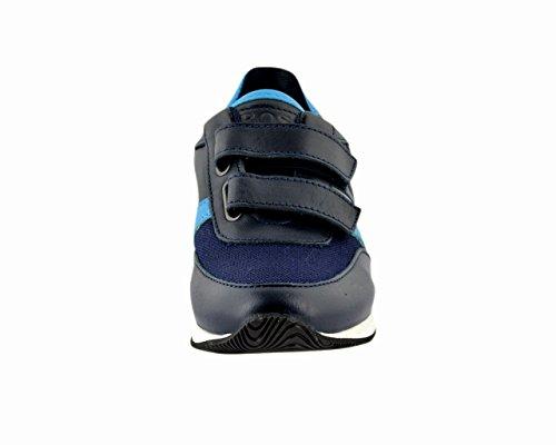 Hugo Boss Kids Navy Blue Velcro Trainers 36 (Euro)