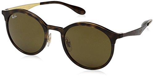 Ray-Ban Injected Unisex Round Sunglasses, Tortoise Brown, 51 - Tortoise Clubmaster Ban Ray Prescription