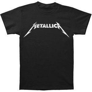 Bravado Metallica Black and White Logo Adult T-Shirt Large