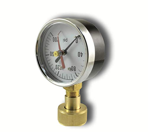 - PRO-Grade - Stainless & Black Steel Liquid Glycerin Filled Pressure Gauge - (WOG) Water Oil Gas 0 to 200 PSI, Lower Mount 1/4