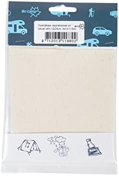 Kleiber Canvas Style Self-Adhesive Waterproof Nylon Repair 2 Patches -Black 10cmx12cm Each 12 x 10 Centimeters