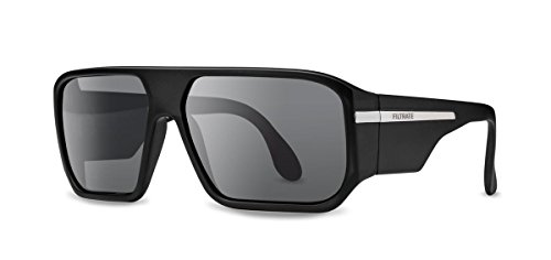 Filtrate Eyewear Hippy Killer Sunglasses Black Matte & Grey - Sunglasses Organic