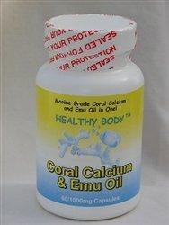 Le calcium de corail en bonne santé du corps et l'huile d'émeu 60/1000mg