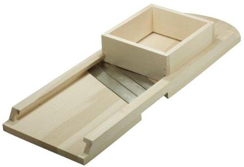 Hofmeister Holzwaren Krauthobel, einfach, rund, 3 Messer und Schublade, Länge: 550 mm