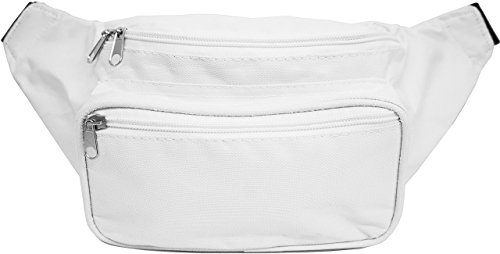 SoJourner Bags Fanny Pack - Classic Solid Bright Colors (white)