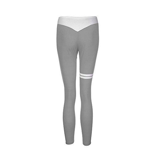 Pantalon Taille Gym de Pantalons Femme Gris Pantalon Leggings Stretch Fitness Femmes Haute Sportswear Skinny Femmes Vêtements Beikoard Yoga gRZqxOwx