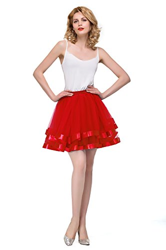 Elastic 3 Layered Tulle Tutu Short Dance (Pin Up Girl Costumes Images)