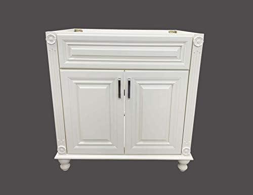 30″ Wide x 21″ Deep New Antique White Single-Sink Bathroom Vanity Base Cabinet NAW