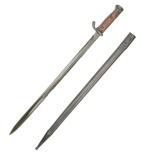 (German WWI Gewher 98 Sawback Machine Gunner Bayonet)