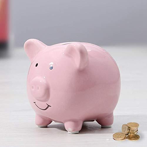 LXX1 Piggy Bank for Girls and Boys,Ceramic First Piggy Pank for New Born Nursery Decor Cute Child Piggy Bank for Money Saving