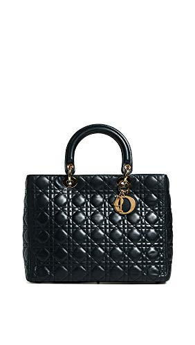 (What Goes Around Comes Around Women's Dior Lady Dior Bag, Black, One Size)