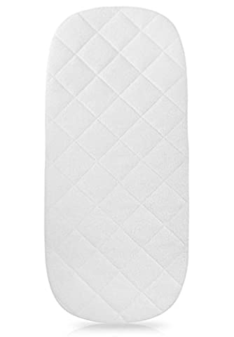"""iLuvBamboo Waterproof Bamboo Bassinet Mattress Pad Cover to Fit The By Your Side Sleeper -29.5"""" x 13.5"""" - Secure Envelope Design - Silky Soft - Waterproof - Best for Machine Wash and Dryer Friendly"""