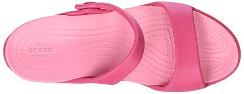 crocs Damen Cleo V Sandal Women Pink (Paradise Pink)