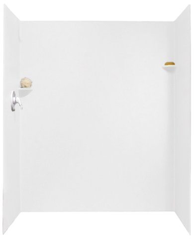 Swanstone SK-344872-010 34-Inch by 48-Inch by 72-Inch Shower Wall Kit, White Finish (Fiberglass Swanstone Shower)