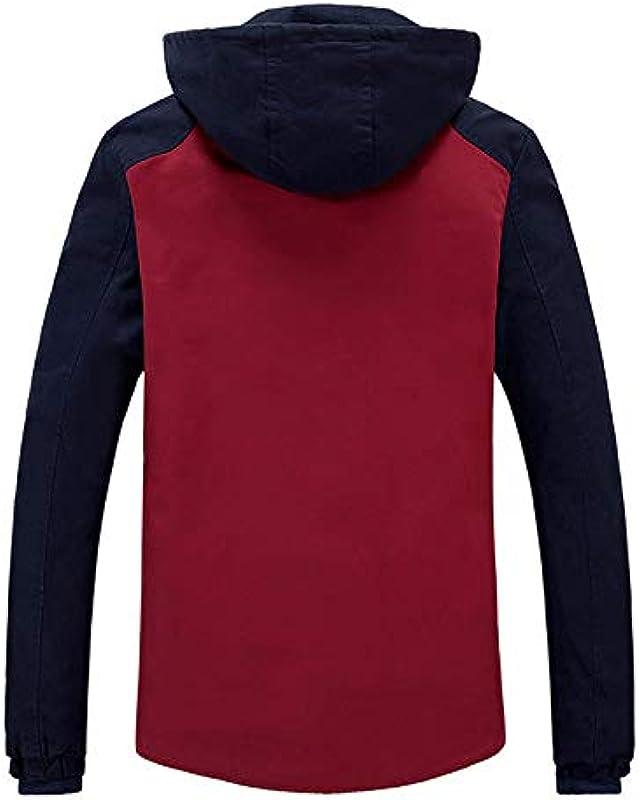 llzshoutao męska kurtka outdoorowa, na jesień i zimę, wiatroszczelna, ciepła kurtka: Sport & Freizeit