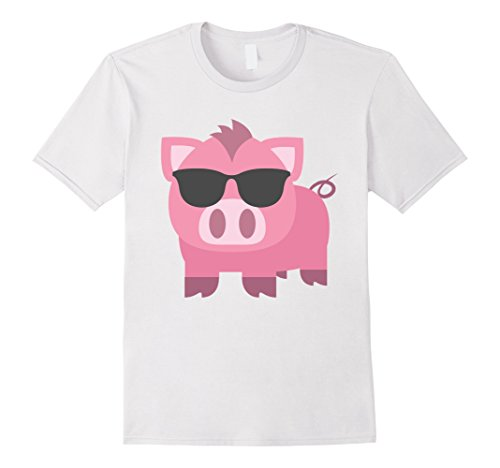 Mens Pig Emoji Sunglasses Shirt T-Shirt Piglet Tee XL - Sunglass Emoticon
