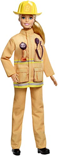 Barbie Careers 60th Anniversary Firefighter Doll (Monster High Dolls Basic Travel)