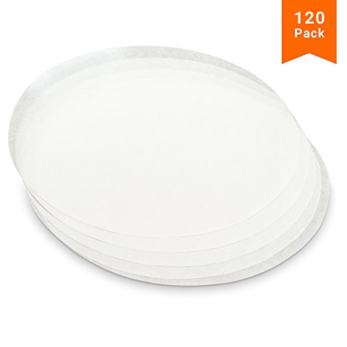 KooK Round Parchment Paper in Resealable Packaging, White (120, 8 inch)