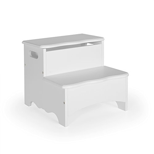 Guidecraft Classic Storage Step-Up - Gray: Toy Storage Step Stool For Children, Kids Learning Furniture by Guidecraft