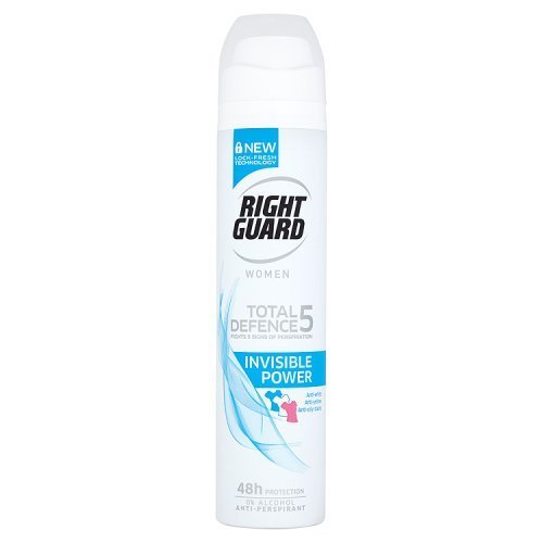 Right Guard Women Total Defence 5 Invisible Power Anti-Perspirant Deodorant Aerosol, 250ml by Right Guard - 250 Ml Aerosol
