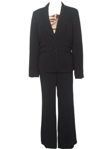 NINE WEST Women's Retro Chic 3PC Jacket/Cami/Pants Suit