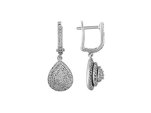 Birgie Diamants et Bijoux -Boucles d'Oreilles Diamants-Femme- or Blanc 204E0027