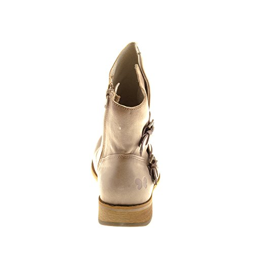 Scarpe Da Donna Felmini - Cadono Beja B162 - Cerniera Stivali - In Vera Pelle - Multicolore