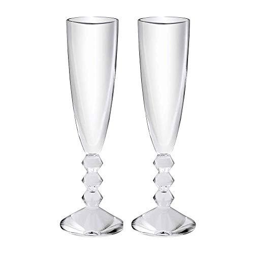 Baccarat Crystal Vega Champagne Flute - Clear - Set of 2 (Flute Vega Champagne Baccarat)