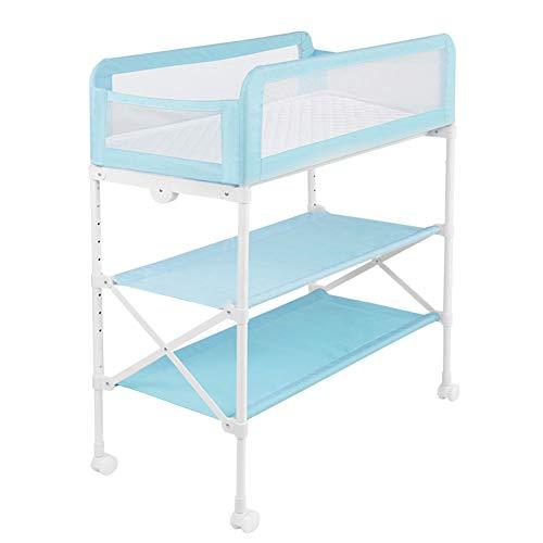 Mesa para cambiar pañales Mesa para cambiar pañales Bebé plegable, Unidad de bañera portátil Unidad de balanceo Alacena...