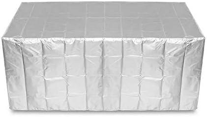 ガーデンテーブル カバー シルバー家具の防水カバー長方形の屋外ガーデンテーブルチェアシェルター再利用可能 防水 防塵 多機能 家具カバー (色 : Silver, Size : 170 x 97 x 71 cm)