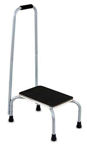 Kleeger Step Stool Support Ladder: With Handrail Safe Non Slip Platform, Cushion Grip Handle Bar by KLEEGER