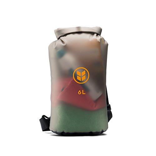 [Barlii - DrySak (6L) Eco-Friendly Waterproof Dry Bag] (Black Hair Belt)