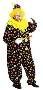 Neon Dotted Clown Full Size Costume (Neon Dotted Clown Full Size Costume)
