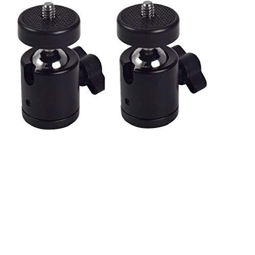 TechMount Swivel Mini Ball Head 1/4″ Screw DSLR Camera Tripod Ballhead Stand Support(Pack of 2)