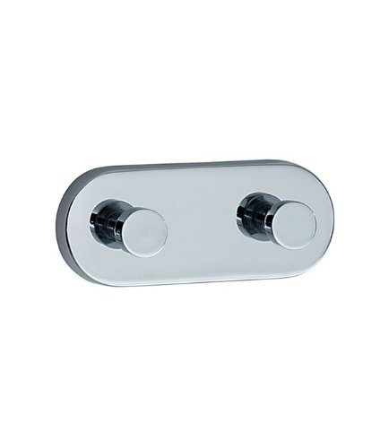 Smedbo LOFT Double Towel Hook LK357 Polished Chrome .Include Glue.Fixing Without Drilling
