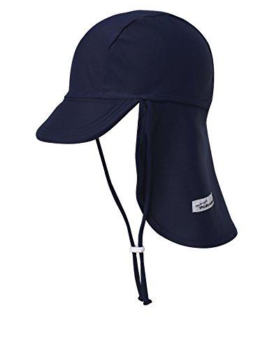 Vaenait baby Infant & Kids Boys Sun Protection Sporty Flap Swim hat UV Flap Cap Navy L