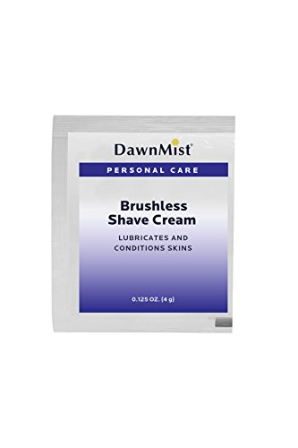 Dukal PBS35 Dawn Mist Brushless Shave Cream, 0.125 oz. Single-Use Packet (200 Bags of 10) (Pack of 2000)