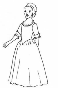 [Girl's Gown and Shift Pattern (Small, Girl's Sizes 4-5)] (Colonial Girl Costumes Pattern)