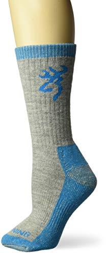 Browning Women's Sequoia Socks | Gray/Algiers Blue | Medium | One Pair ()