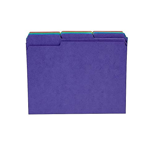 Staples 810351 Heavyweight Colored File Folders; Letter 3 Tab - Color Colored Coded Cardstock