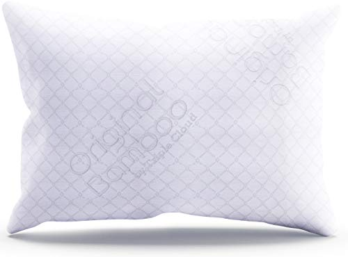 Triple Cloud Pillows Shredded Memory Foam Adjustable Standard/Queen Pillow with Removable Hypoallergenic Cover – Made in The USA (Standard/Queen)