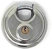 Wholesale lot of 10 DISC PADLOCK 70mm Steel Armor Storage Lock Keyed Alike