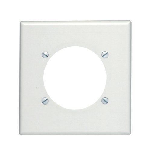 Leviton Flush Mount Wall Plate (Leviton 80530-W 2-Gang Flush Mount 2.465-Inch Diameter, Device Receptacle Wallplate, Device Mount, Midway Size, White)