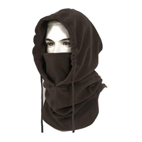 BeLe Mens Winter Hat Cold Weather Face Mask Balaclava Hood Outdoor Heavyweight Sports Balaclava Windproof Brown
