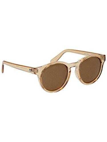 Le Specs Women's Hey Macarena Polarized Sunglasses, Blonde/Brown Mono, One - Sunglasses Womens Blonde